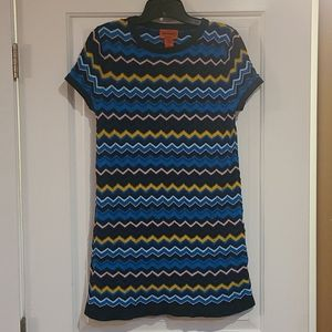 Missoni for target size medium dress chevron print
